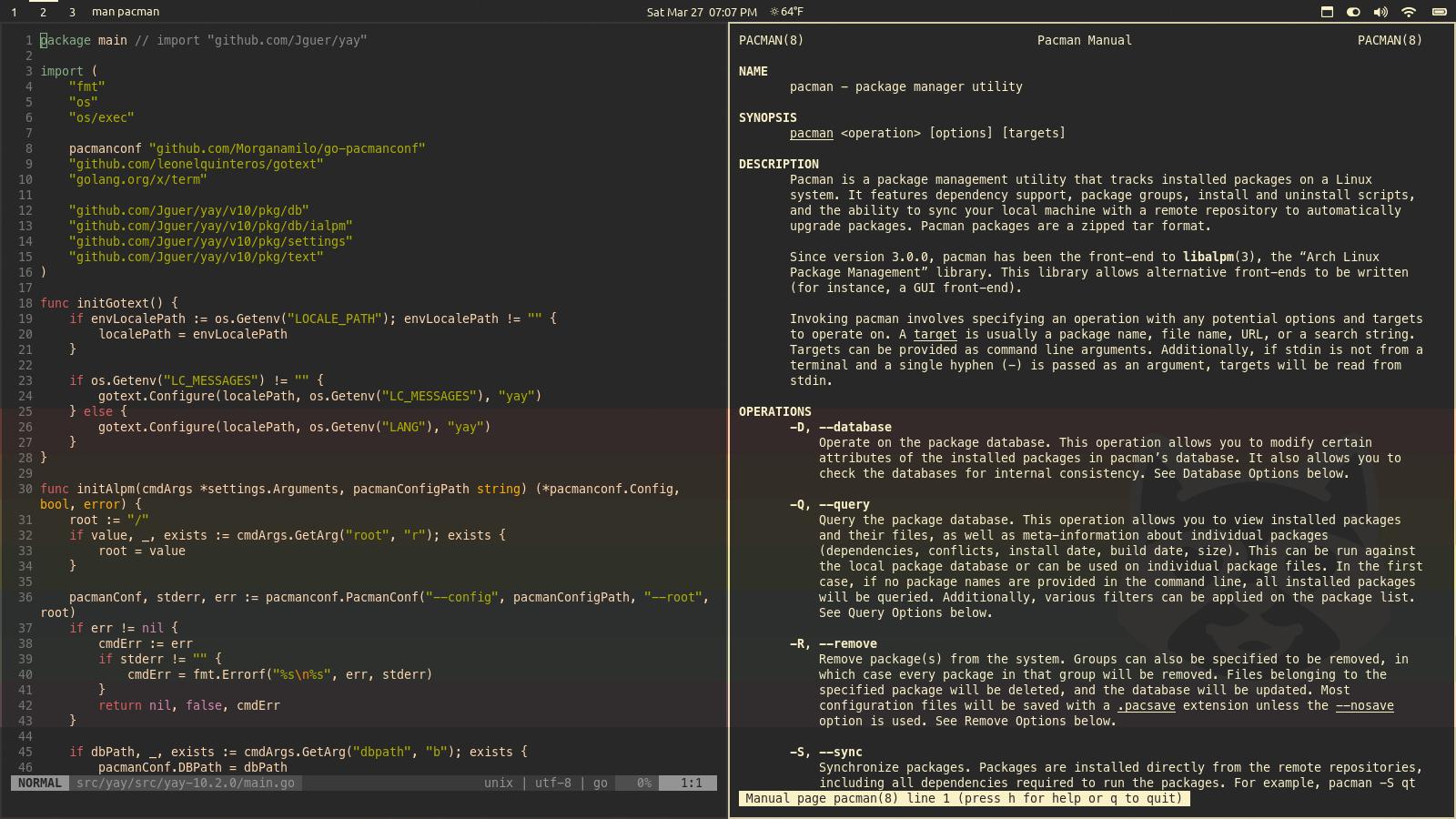 Desktop screenshot tiling